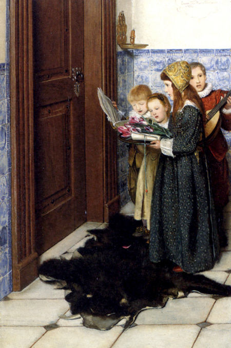 a carol - Lady Laura Teresa Alma-Tadema