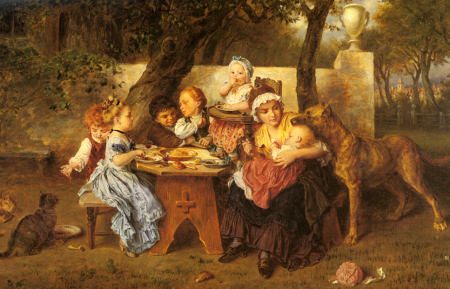 The Birthday Party - Ludwig Knaus
