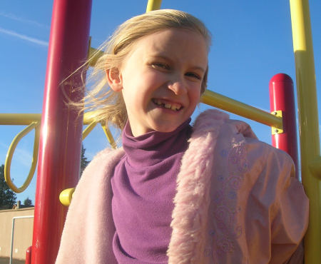 Hannah in the sunny cold