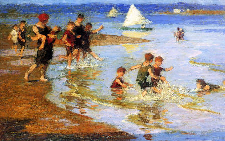 Children at Play on the Beach - Edward Henry Potthast