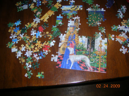 Hannah took this picture of her puzzle