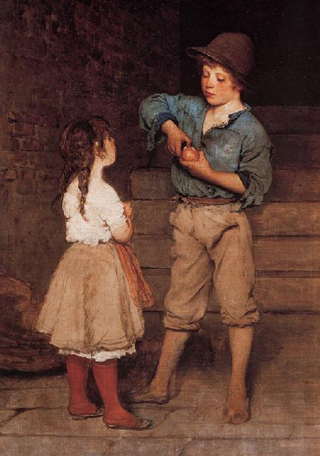 Zwei Kinder - Eugene de Blaas