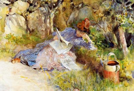 A Lady Reading the News - Carl Larsson