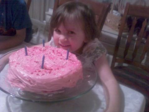 Sarah and her cake