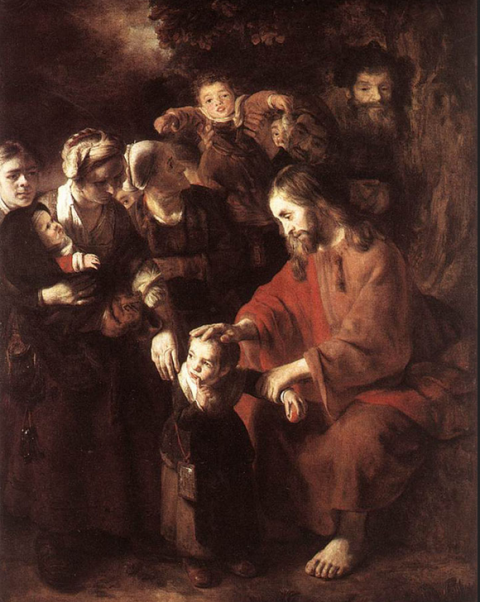 Christ Blessing th Children