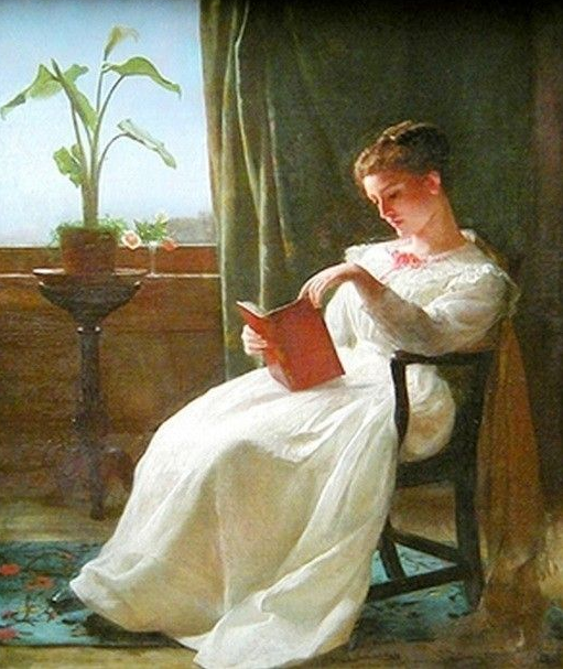 Girl Reading ~ George Cochran Lambdin